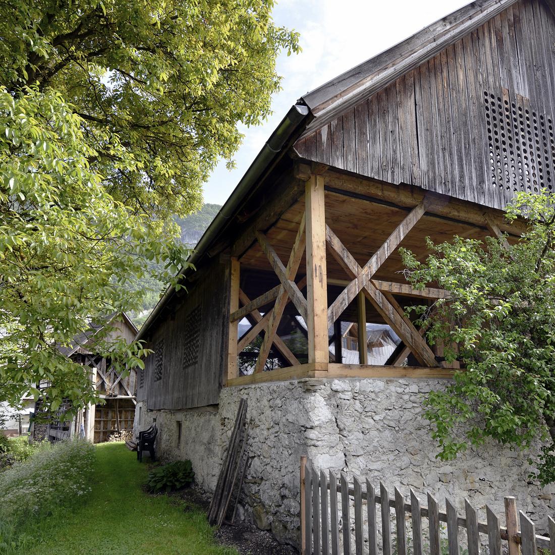 Alpine barn wedding