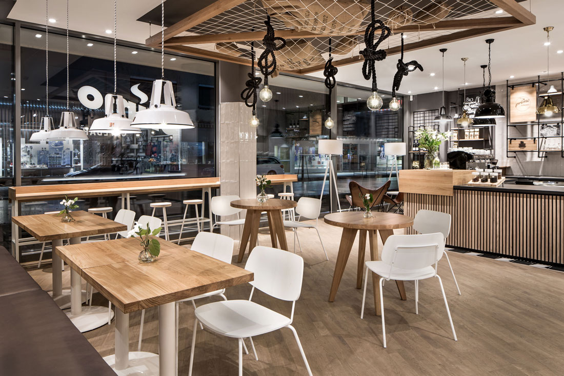 Interior Corner Cafe
