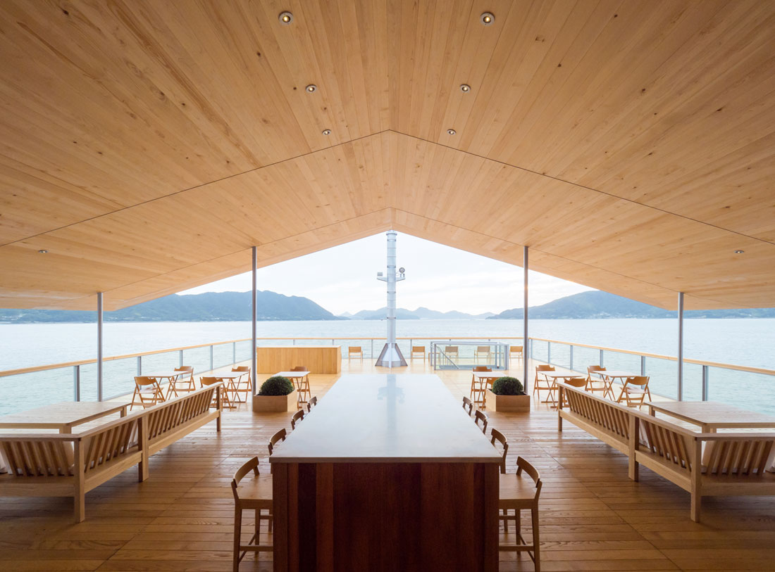 Guntu, a hotel floating on the Seto Inland Sea